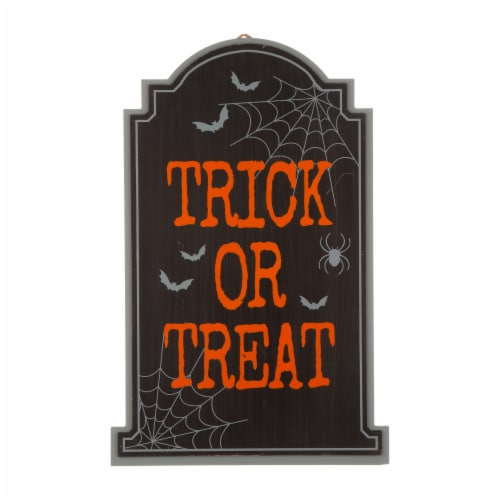 Glitzhome Halloween Wooden Tombstone Yard Stake Perspective: front