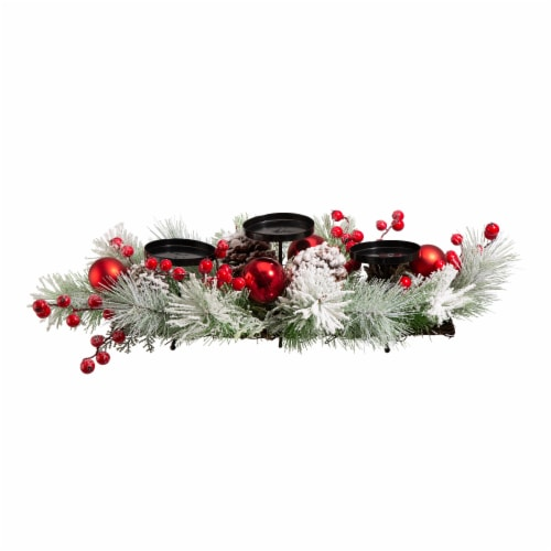 Glitzhome Glittered Candle Holder Center Piece Perspective: front