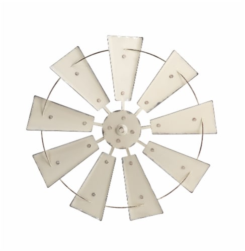 Glitzhome Metal Wind Spinner Wall Decor - Beige Perspective: front