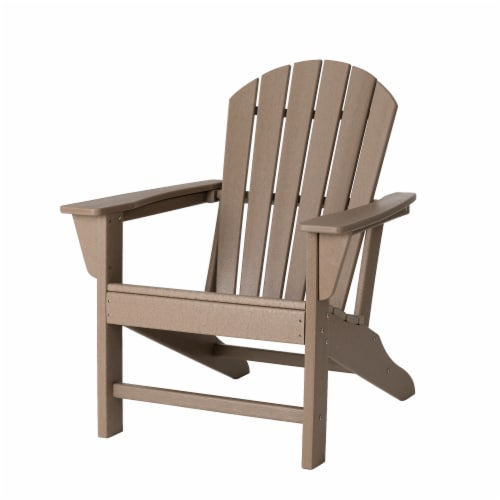 Glitzhome Adirondack Chair - Tan Perspective: front