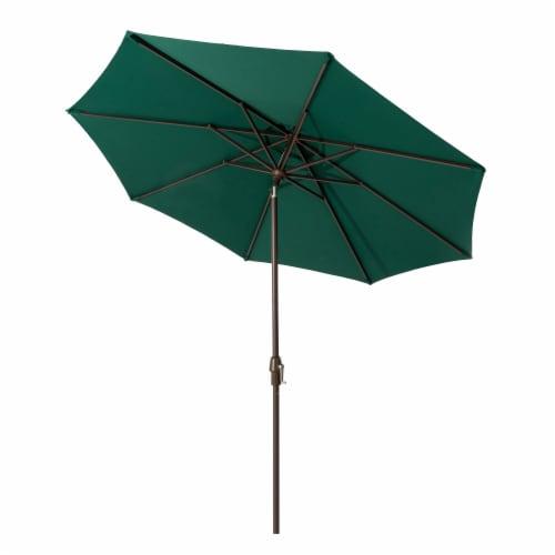 Aluminium Selt Tilt Patio Umbrella - Dark Green Perspective: front