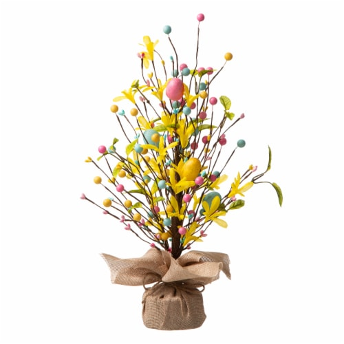 Glitzhome Easter Egg Table Tree Decoration Perspective: front