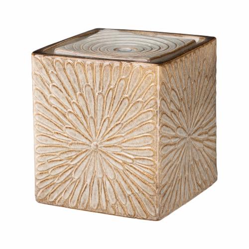 Glitzhome Ceramic Square Pot Outdoor Fountain Perspective: front
