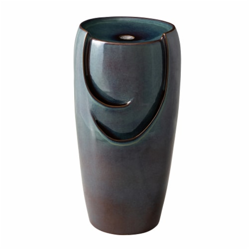 Glitzhome Ceramic Pot Fountain - Turquoise Perspective: front