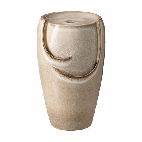 Glitzhome Ceramic Outdoor Fountain - Ivory Perspective: front
