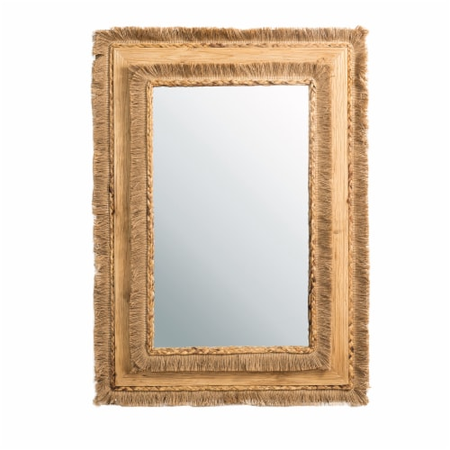 Glitzhome Oversized Bohemian Style Decorative Wall Mirror Perspective: front