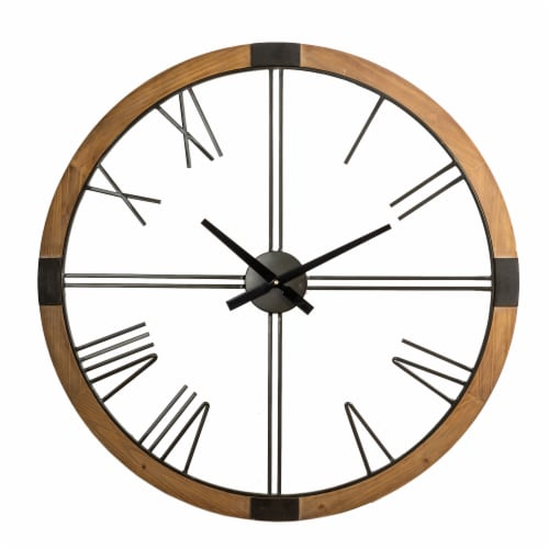 Glitzhome Oversized modern Farmhouse Wall Clock Perspective: front