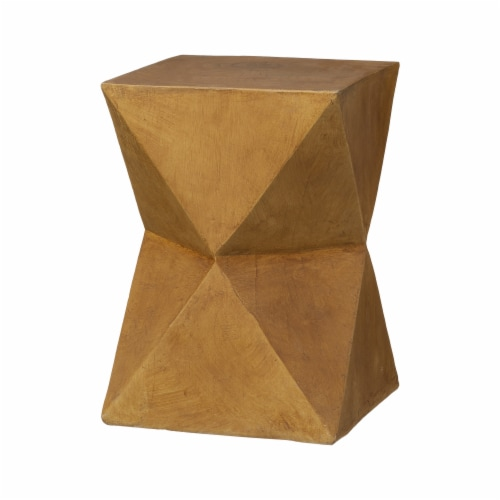 Glitzhome Multi-Functional Faux Wood Garden Stool Plant Stand Perspective: front