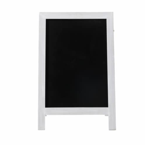 Glitzhome Farmhouse Wood Hanging and Floor Displayed Memo Board - White Perspective: front
