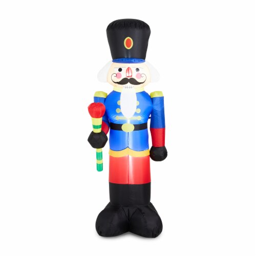 Glitzhome Lighted Inflatable Nutcracker Décor Perspective: front