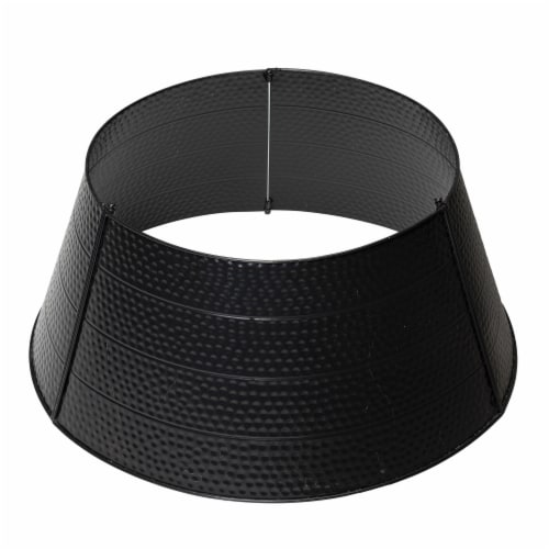 Glitzhome Black Hammered Metal Tree Collar Perspective: front