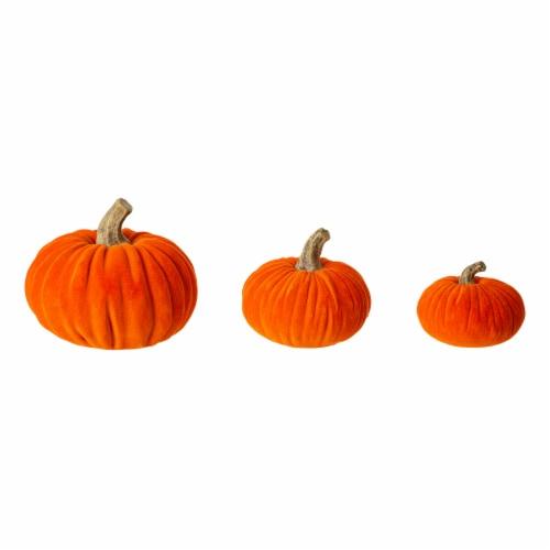 Glitzhome Orange Resin Pumpkins Decor Perspective: front