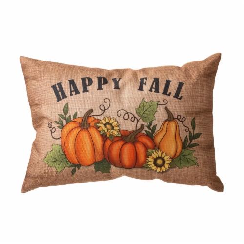Glitzhome Faux Burlap Fall Pumpkin Pillow Perspective: front