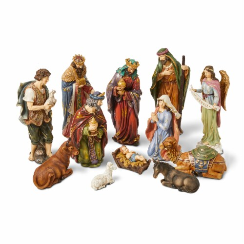 Glitzhome Oversized Resin Nativity Figurine Set Perspective: front