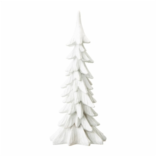 Glitzhome Resin Christmas Table Tree Décor Perspective: front