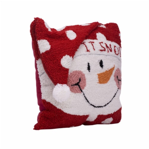 Glitzhome 3D Snowman Pillow Perspective: front