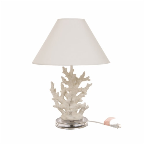 Glitzhome Coral Table Lamp Perspective: front