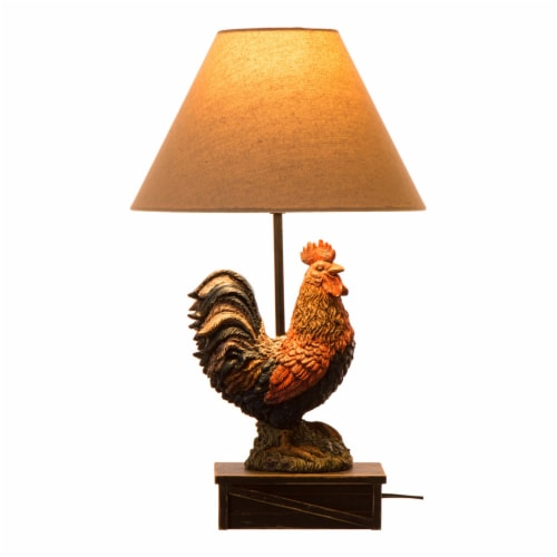Glitzhome Rooster Table Lamp Perspective: front
