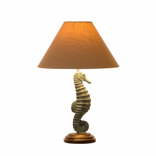 Glitzhome Seahorse Table Lamp Perspective: front