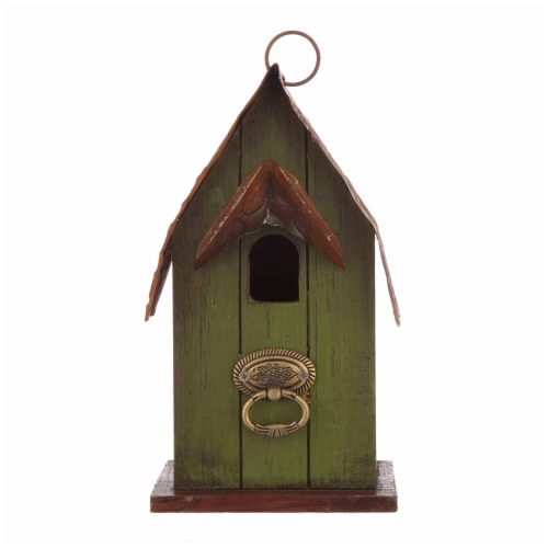 Glitzhome Rustic Garden Bird House Perspective: front