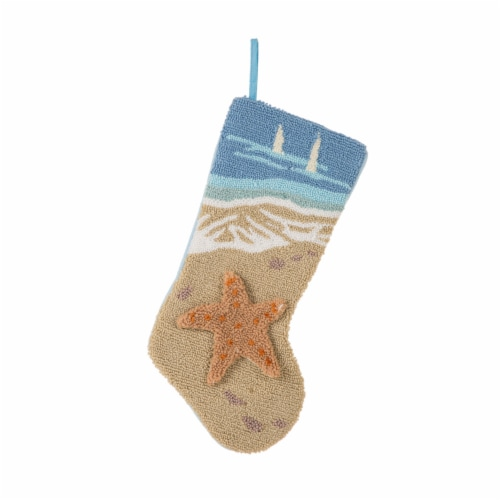 Glitzhome 3D Starfish Stocking Perspective: front