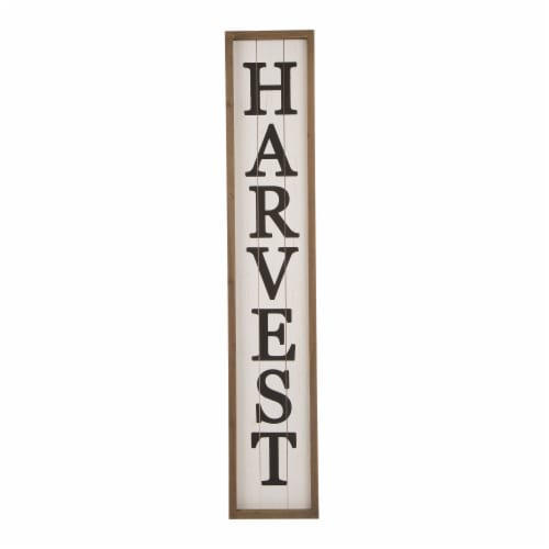 Glitzhome Wooden Harvest Hanging Decoration Perspective: front