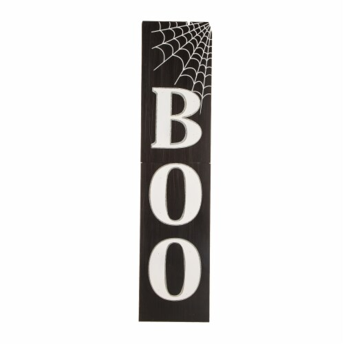 Glitzhome Wooden BOO Porch Sign Perspective: front
