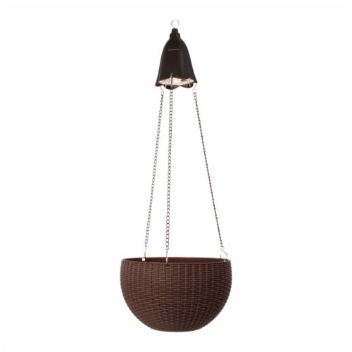 Glitzhome Solar Light Hanging Planter Perspective: front