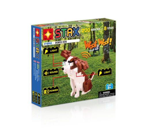 Light Stax Hybrid Dog Building Set Perspective: front