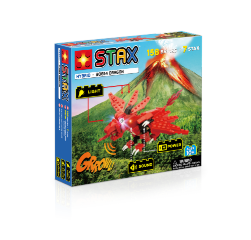 Light Stax Hybrid Dragon Set - Red Perspective: front