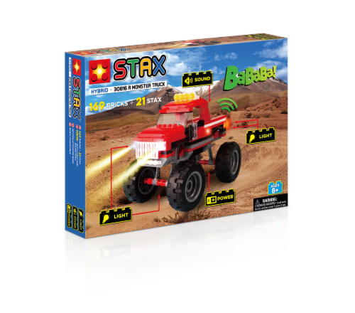 Light Stax Hybrid Monster Truck - Red Perspective: front
