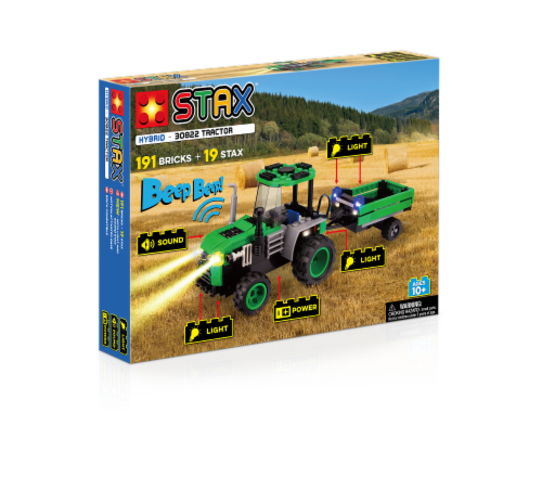 Light Stax Hybrid Tractor Building Set Perspective: front