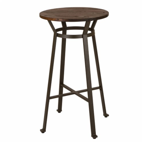 Glitzhome Rustic Metal Steel Bar Table - Coffee Perspective: front