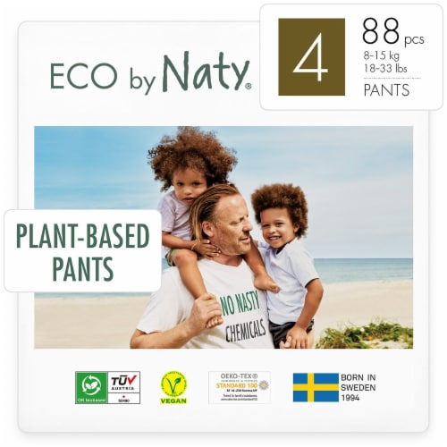Eco by Naty Size 4 Pull-Ups Training Pants 88 Count Perspective: front
