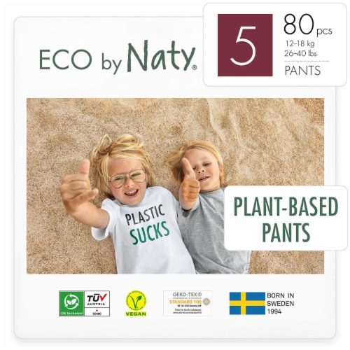Eco by Naty Size 5 Pull-Ups Training Pants 80 Count Perspective: front