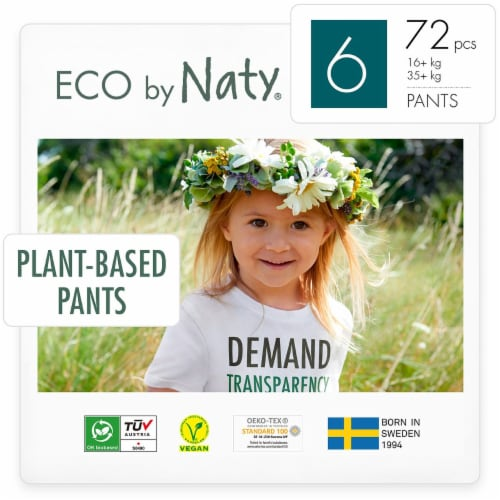 Eco by Naty Size 6 Pull-Ups Training Pants 72 Count Perspective: front