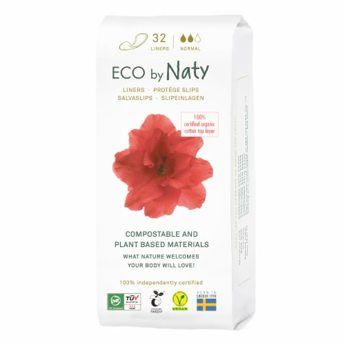 Eco by Naty Normal Compostable Panty Liners Perspective: front