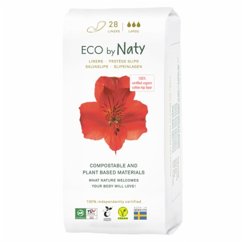Eco by Naty Large Compostable Panty Liners Perspective: front