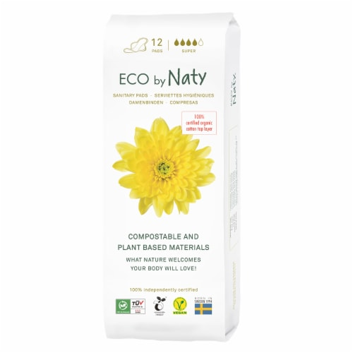 Eco by Naty Super Compostable Sanitary Pads Perspective: front