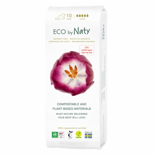 Eco by Naty Extra Compostable Maternity Pads Perspective: front