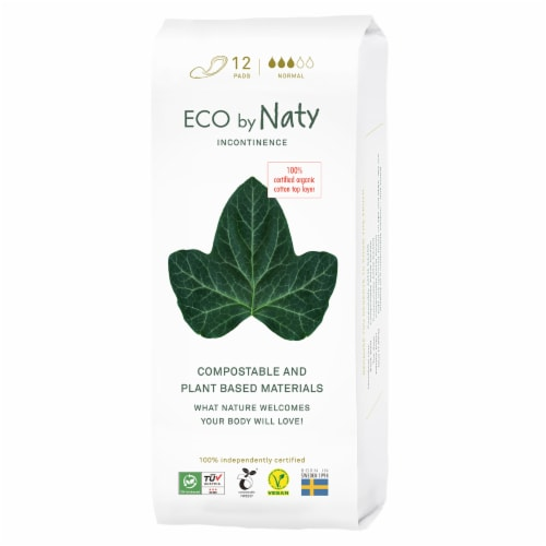 Eco by Naty Normal Compostable Incontinence Pads Perspective: front