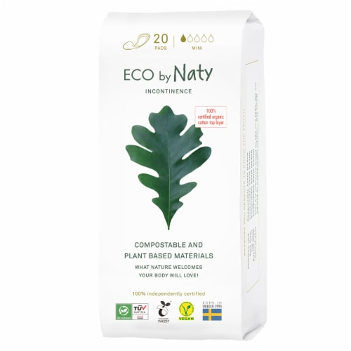 Eco by Naty Mini Compostable Incontinence Pads Perspective: front