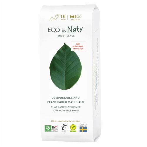 Eco by Naty Mini Plus Compostable Incontinence Pads Perspective: front