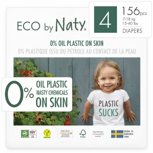Eco by Naty Size 4 Disposable Diapers Perspective: front