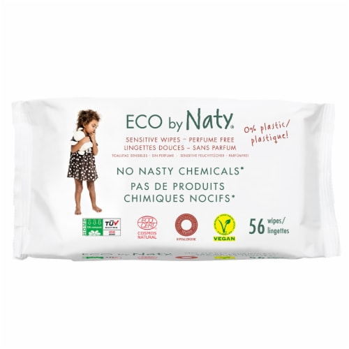 Eco by Naty Unscented Baby Wipes 672 Count Perspective: front