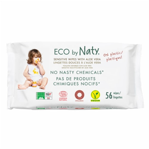 Eco by Naty Baby Wipes with Aloe Vera 672 Count Perspective: front