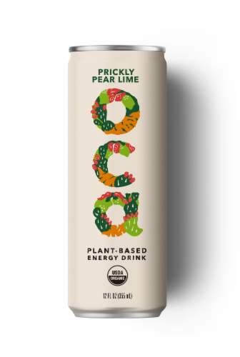 OCA Prickly Pear Lime Plant-Based Energy Drink Perspective: front