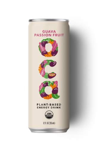 OCA Guava Passion Fruit Plant-Based Energy Drink Perspective: front