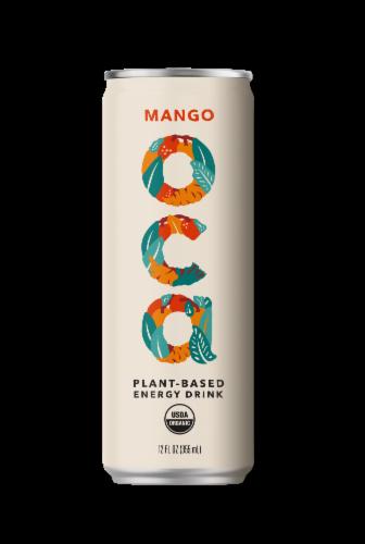 OCA Mango Plant-Based Energy Drink Perspective: front