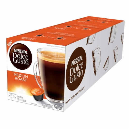 Nescafe Dolce Gusto Medium Roast Capsule, 16 count per pack -- 3 per case. Perspective: front